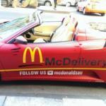 Mc Donald Melbourne dùng Lamborghini và Ferrari F430 giao hàng