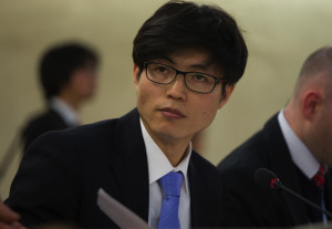 Shin Dong-hyuk addresses Human Rights Council