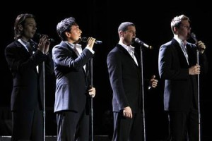 Members of pop opera quartet Il Divo perform during the Jordan festival in Amman