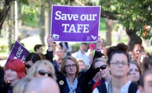 TAFE CUTS RALLY GEELONG
