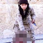 Những tên khủng bố Hồi Giáo IS thiếu niên chặt đầu tù nhân Syria
