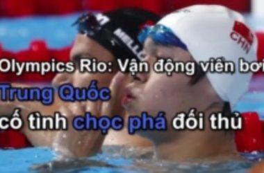 Olympics Rio 2016: Vận động viên bơi Trung Quốc trêu chọc đối thủ