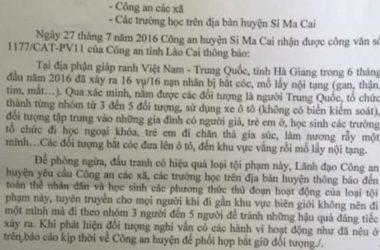 Việt Nam bác tin Trung Quốc bắt cóc trẻ em lấy nội tạng