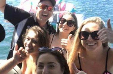 Câu mực trên biển cứu được 4 phụ nữ