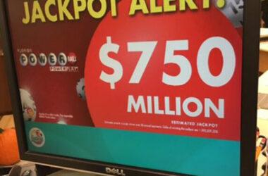 Giải độc đắc Powerball 750 triệu USD tại Mỹ