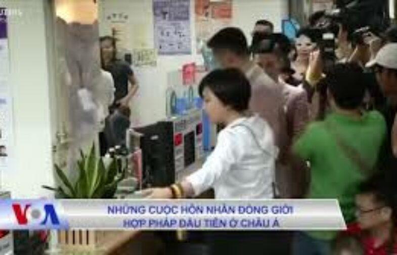 Những cuộc hôn nhân đồng giới hợp pháp đầu tiên ở Châu Á