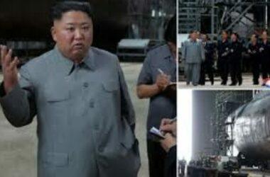 Kim Jong Un thị sát tàu ngầm mới của Triều Tiên