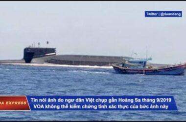 Tàu ngầm hạt nhân TQ nổi lên giữa các tàu cá VN ở Biển Đông