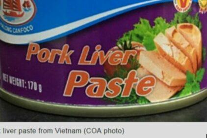 Đài Loan cấm patê của Việt Nam do dịch tả heo