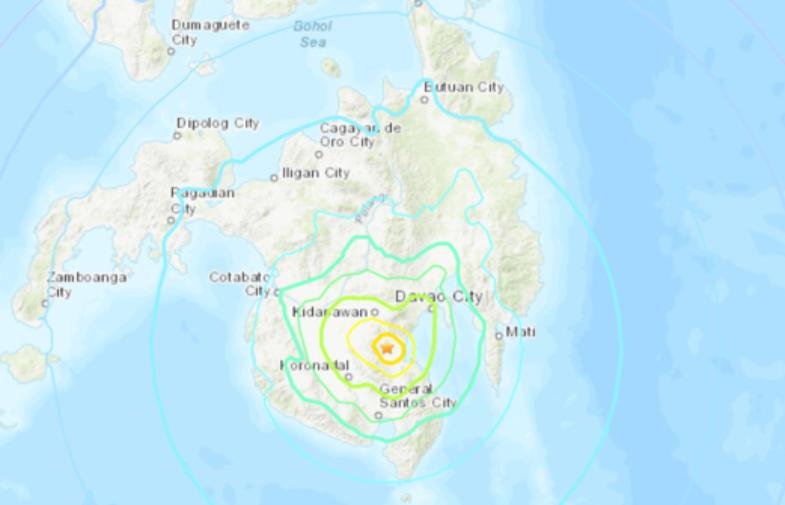 Động đất 6,8 độ ở Philippines