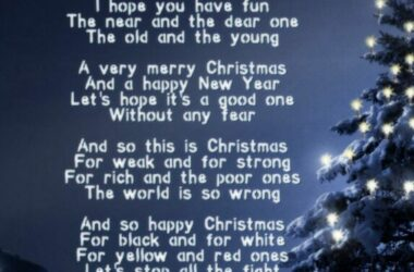 So This Is Christmas – Celine Dion