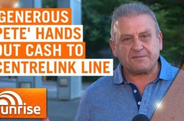 Samaritan Peter Darmos người đàn ông tốt bụng tặng $100 cho người thất nghiệp
