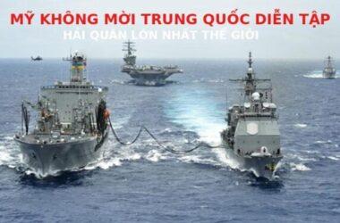 Mỹ mời VN diễn tập hải quân 'lớn nhất thế giới', loại TQ