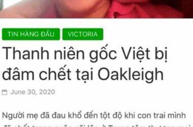 Chàng trai Việt bị đâm chết tại Melbourne