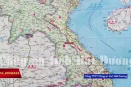 Hải Dương tịch thu bản đồ 'đường lưỡi bò'