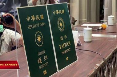 Đài Loan thay hộ chiếu để tránh bị nhầm với Trung Quốc